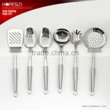 High grade cooking tools 6pcs set best stainless steel kitchen ware
