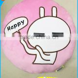 Hot Selling High Quality Novelty Design Christmas Gift Cartoon Rabbit Tuzki Plush Pillow