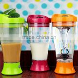 3 Colors Electric Whey Protein Powder Shaker Cup Automatic Movement Bottle 400ml BPA free joyshaker Water Bottle Private Label