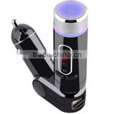 Multi-Function Bluetooth Car FM transmitter Enabled MP3 Player Kit with LED Display Line-in and USB Port Charger