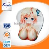 breast gel wrist rest mouse mat , carton sexy mouse mat