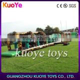 Military Boot Camp Obstacle ,inflatable army train obstacle course, pvc inflatable obstactle