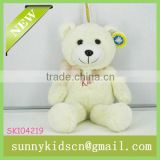 2014 toys plush off-white bear soft cute animal toy factory pp cotton stuffed toy Plush bear