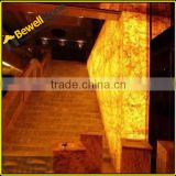 Honey onyx laminated glass panel for project, onyx lastre prezzo to USA, onyx block from Iran