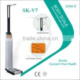 With BMI Printer Cheap Professional Body Weight Scale Kiosk SK-V7