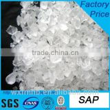 manufacturer raw materials SAP for baby diapers super absorbent polymer price