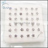 latest silver nose stud pins piercing jewelry