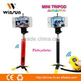 factory supply professional video camera tripod, tripod with bluetooth remote for smart phone