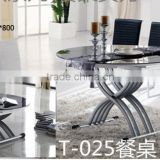 Self-Automatic lifting function Modern Glass Round Simple Tempered Glass 4seater Dinning Table And Chairs GZH-T025