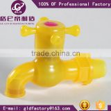 Cheapest high quality Plastic PVC Faucet/tap Bibcocks colourful and beautiful tap without nozzle GLD manufacturing