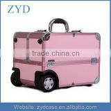 Pink Aluminum Rolling Pro Cosmetic Trolley Case For Nail Beauty ZYD-HZ101502