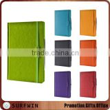 2016 A5 Multicolor PU hardcover diary notebooks, PU agenda notebook with elastic band and pen loop