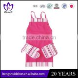 100% cotton customed twill plain dyed apron and oven mitt and potholder set China supplier wholesaler