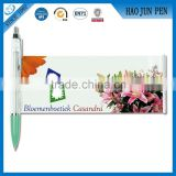 Wholesale Banner Pens Plastic Ballpoint With Ads ,Promotional Pull Out Banner Pen With Logo