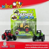 Pull back diecast model car farm car toys toys farmer tractor