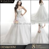Best Quality Sales for embroidered organza lace trim chaozhou wedding dress                                                                         Quality Choice