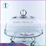Personalized Manufactury original shaped Food Grade Unbreakable Clear Acrylic Dome Cake Cover Cake Stand