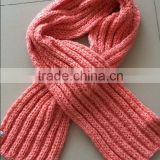 Fashion Acrylic Rib Knitting Soft Chunky Thick Women's Scarf