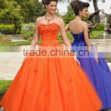 2012 New Arrival Popular Designer Sweetheart Orange Flower Quinceanera Dress Prom Dress MLQ-282