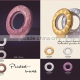 2015 Modern design colored plastic eyelet rings for curtains