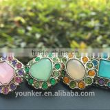 New effect rhinestone acrylic plastic colorful button sewing with shank bulk cheap high quality button flower center