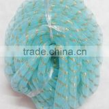 HOT SALE 10mm or 16mm Lt. Blue Round Nylon Woven Mesh Tubing Ribbon for Gift Decoration,tie,cord