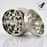 Free logo weed grinder, 2.5'' 4parts Zinc alloy herb grinder, Gift packaging box and carry pouch.
