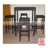 Bamboo Rattan Wicker Dining Chair Furniture set