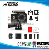 Many Accessories Waterproof Case + Helmet Seat Xiaomi Yi Action Camera Support 4-32 GB SD Card