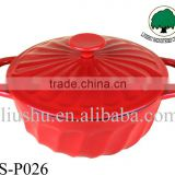 2015 hot sale round shape cast iron enamel casserole pot/enamel cookware pot