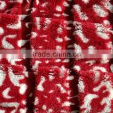 drop needle cheetach plush fabric
