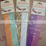 PAPER CHAIN KITS New Birthday Christening Wedding Party Bunting Home Garland