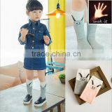 2015 Cute new long ears rabbit cotton socks kids cartoon socks pink and gray child boy socks models