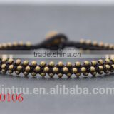 Handmade BRASS BEAD WITH BRASS BELLS ANKLET in Thailand Fair Trade Jewelry