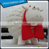 8m attractive inflatable sheep model / giant inflatable lamb with red scarf for outdoor decoration
