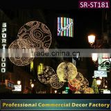 Customize commercial cross Street 2D ball light rope motif