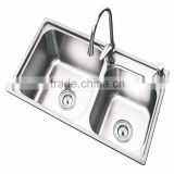 Surface Brushed SUS 304 Stainless Steel Kitchen Sinks