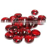 17-19mm ruby red glass gems ,gems stone for vase filler