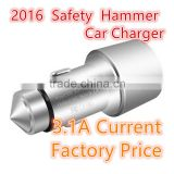 Safety hammer car charger car usb charger adapter mobile phone usb car adapter
