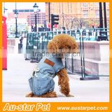 Cute Pet Dog Puppy T-Shirt Pet Jean Clothes Denim Dog Jumpsuits, Pet Apparel Coats