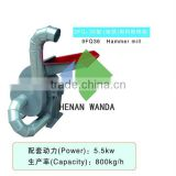 high capacity wood crusher/tree branch crusher/wood chipper hammer crusher mill machinery with CE