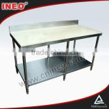 Commercial Stainless Steel Work Table For Sale Used In The Kitchen/Marble Top Kitchen Work Tables