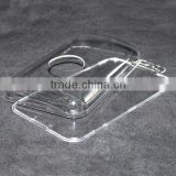 Crystal clear acrylic protective box for phone case, transparent packaging box with a hook
