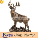 Beautiful custom design brass standing elk statues from China NTBA-DE027Y