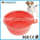 6colors Round shape food grade silicone dog bowl