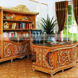 Classic Office Furniture,Antique Hand Carved Office Desk Furniture,Office Desk,Chair,File Cabinet,Book Cabinet (BF08-0263)