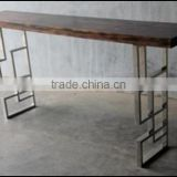 Wood Slab Console Table