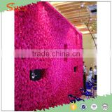 Best quality personized rose and peony artificial flower wall for stage background decoration