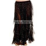 Supply cheap women stage dance dresses,long sequin decorative skirt for bellydance