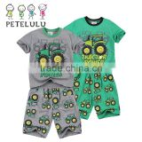 Petelulu Stocklot Product Basketball Printed Name Brand Kids Clothing Wholesale